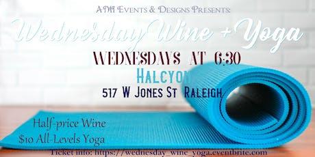 Wednesday Wine & Yoga tickets