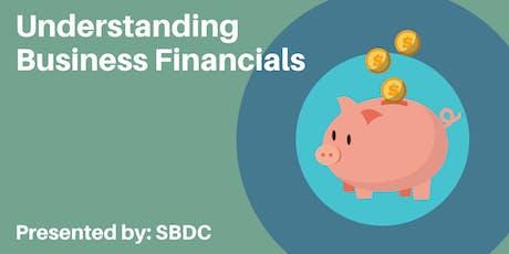 Understanding Business Financials - Saturday pop-up session tickets