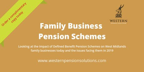 West Midlands Family Business Pension Schemes tickets