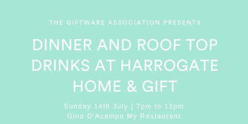 Dinner and Roof Top Drinks - Harrogate Home & Gift