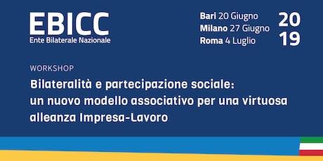 Bilateralità e partecipazione sociale - BARI biglietti