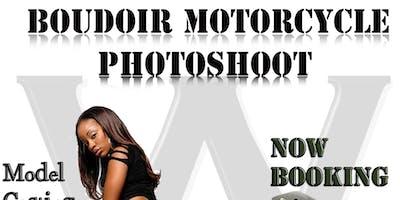 Boudoir Model Motorcycle Photoshoot