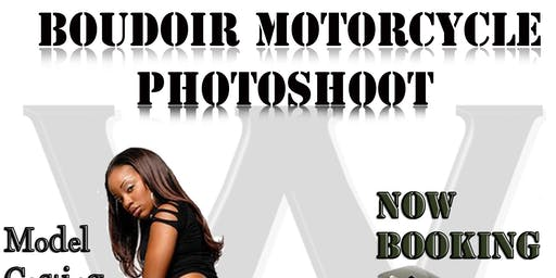 Boudoir Model Motorcycle Photoshoot