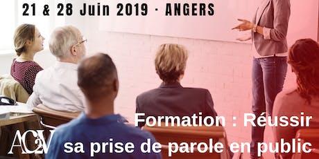 Réussir sa prise de parole en public - les 21 et 28 Juin à Angers billets