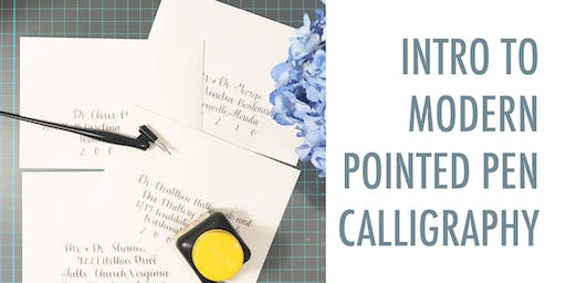 NYC Intro to Modern Pointed Pen Calligraphy at Wework Irving Place