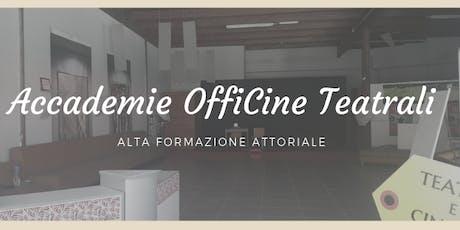 """""""FELICE..MENTE CON IL TEATRO"""" Alta formazione - Open-day GRATUITO -  IX Edizione biglietti"""