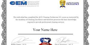 Cleaning Technician 101 * 5/18/19 * ORLANDO