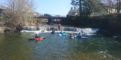 Group Kayaking Whitewater Paddle Weekend, Brecon Beacons, Wales