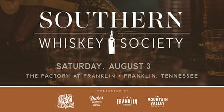 2019 Southern Whiskey Society tickets