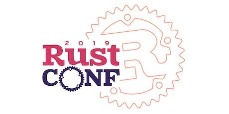 RustConf 2019 tickets