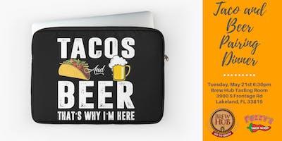 Brew Hub Taco and Beer Pairing Dinner