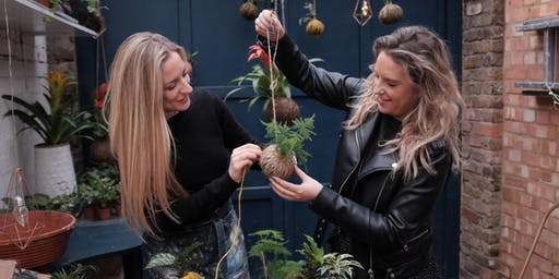 Kokedama Introduction Class : Make Your Own Hanging Pot-less Plant