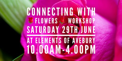 CONNECTING WITH FLOWERS: MAKE YOUR OWN PERFUME & FLOWER ESSENCE WORKSHOP