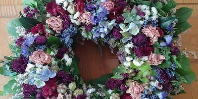 Dried Flower Wreath Or Centerpiece Workshop
