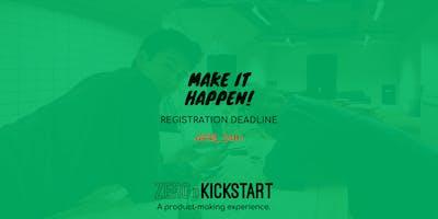 Zero To Kickstart:  A Product-Making Experience