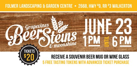 Grapevines Beer Steins and Moonshine  tickets