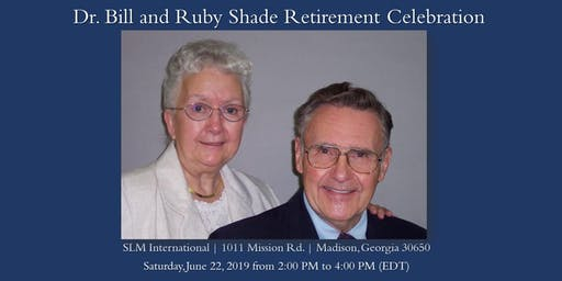 Dr. Bill and Ruby Shade Retirement Celebration