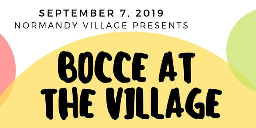Bocce at the Village 2019