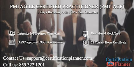 PMI Agile Certified Practitioner (PMI-ACP) 3 Days Classroom in Charleston tickets