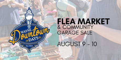 Wayne Downtown Days Flea Market tickets