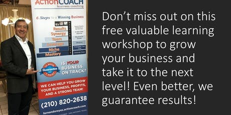 Growth Workshop - 6 Steps to a Better Business tickets