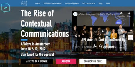 APIdays Amsterdam: The Rise of Contextual Communications tickets