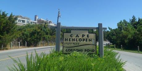 Cape Henlopen Park to Rehoboth trail walk (11-14 mile walk) tickets