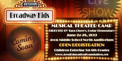 AEF Broadway Kids Camp 2019