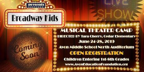 AEF Broadway Kids Camp 2019 tickets