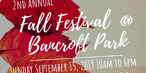 Fall Festival at Bancroft Park