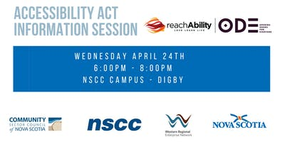 Accessibility Act Information Session - Digby April 24th