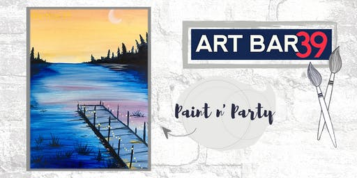 Paint & Sip | ART BAR 39 | Public Event | Sunset on the Dock