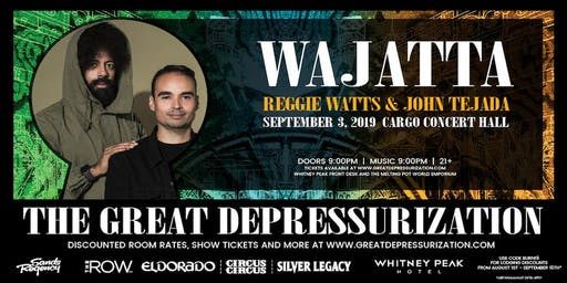[Postponed] Wajatta (Reggie Watts and John Tejada) & Mikey Lion at Cargo Concert Hall