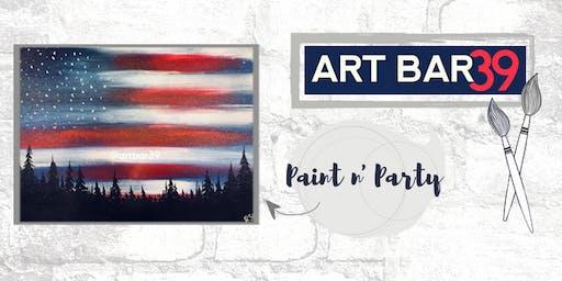 Paint & Sip | ART BAR 39 | Public Event | Patriotic Woods