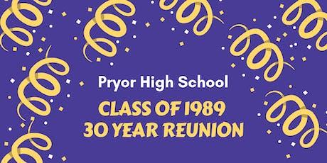 Pryor High School Class of 1989 -- 30 Year Reunion tickets