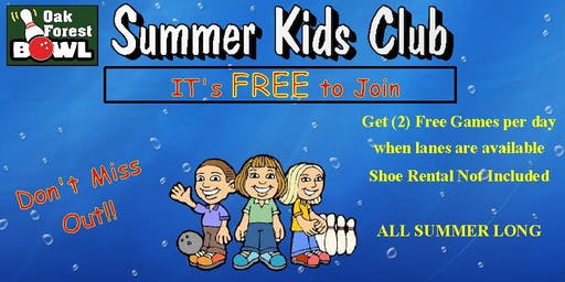 Kids Free Bowling Club Or Purchase a Family Package 2019