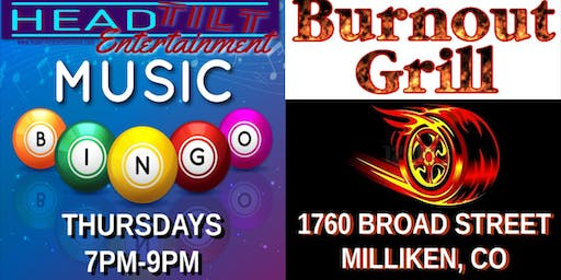 Music Bingo at Burnout Grill - Milliken, CO