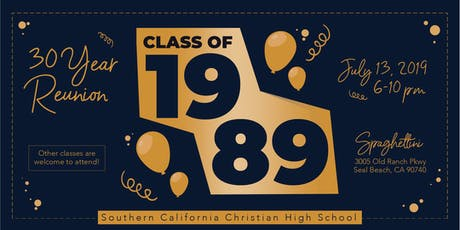 30 Year Reunion of SCC High School Class of 1989  tickets