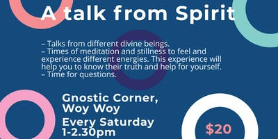 A talk from Spirit at Gnostic Corner