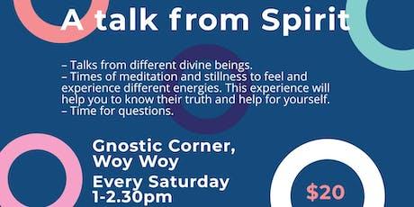 A talk from Spirit at Gnostic Corner tickets