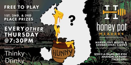 FREE TRIVIA, every other Thursday @ Honey Pot Meadery starting 4/11 tickets