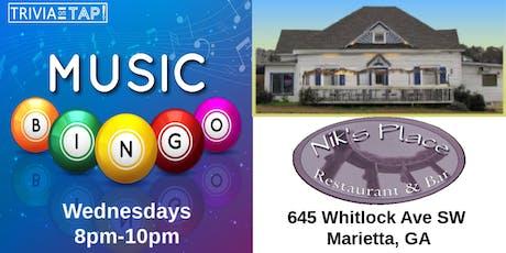 Music Bingo at Nik's Place - Marietta, GA tickets