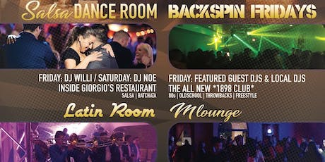 Friday 4 Room Nightlife [Banda] / [Hip Hop/Top 40] / [80's/90's] / [Salsa] tickets