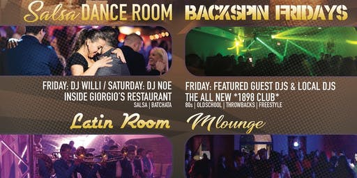 Friday 4 Room Nightlife [Banda] / [Hip Hop/Top 40] / [80's/90's] / [Salsa]