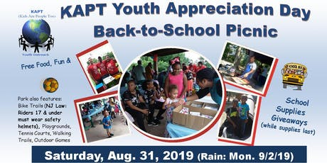 2019 KAPT YOUTH APPRECIATION DAY & BACK-TO-SCHOOL COOKOUT tickets