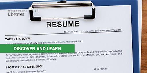 Get That Job! Resume Rescue - Arana Hills Library