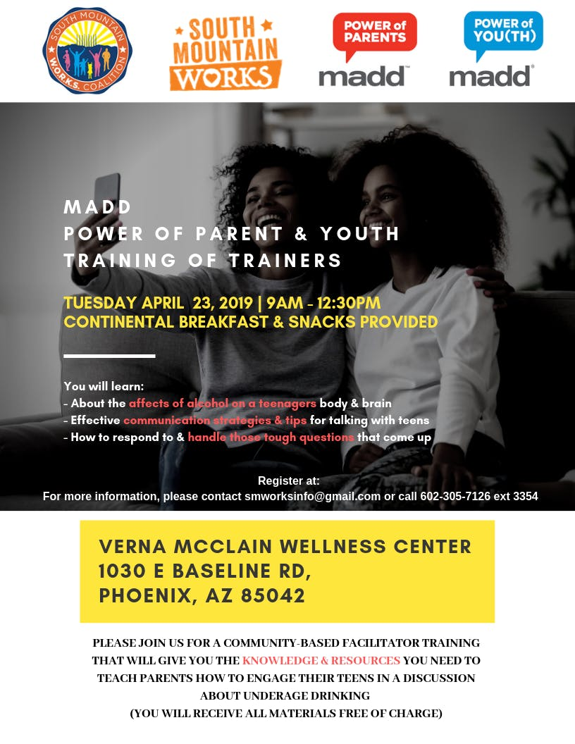 MADD POWER OF PARENT & POWER OF YOUTH  TRAINING OF TRAINERS