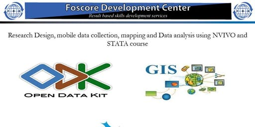 Research Design, mobile data collection and mapping using NVIVO and STATA