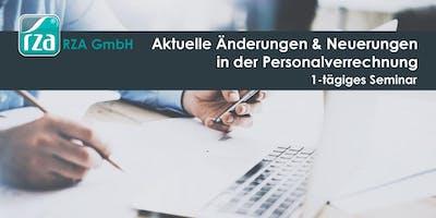 Aktuelle Änderungen & Neuerungen in der Personalverrechnung - 1-tägiges Seminar