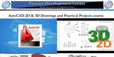 AutoCAD 2D & 3D Drawings and Practical Projects course tickets